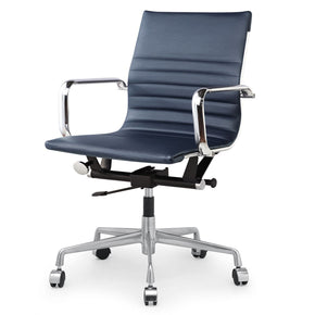 Office Chairs - Meelano 348-NVY Modern Office Chair In Navy Blue Vegan Leather | 035127435619 | Only $199.80. Buy today at http://www.contemporaryfurniturewarehouse.com