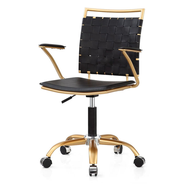 Office Chairs - Meelano 356-GD-BLK Office Chair In Gold And Black | 035127436616 | Only $144.80. Buy today at http://www.contemporaryfurniturewarehouse.com