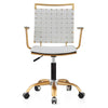 Office Chair In Gold And White