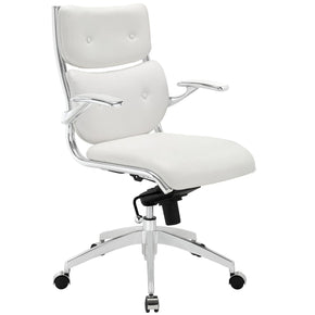 Push Mid Back Office Chair White