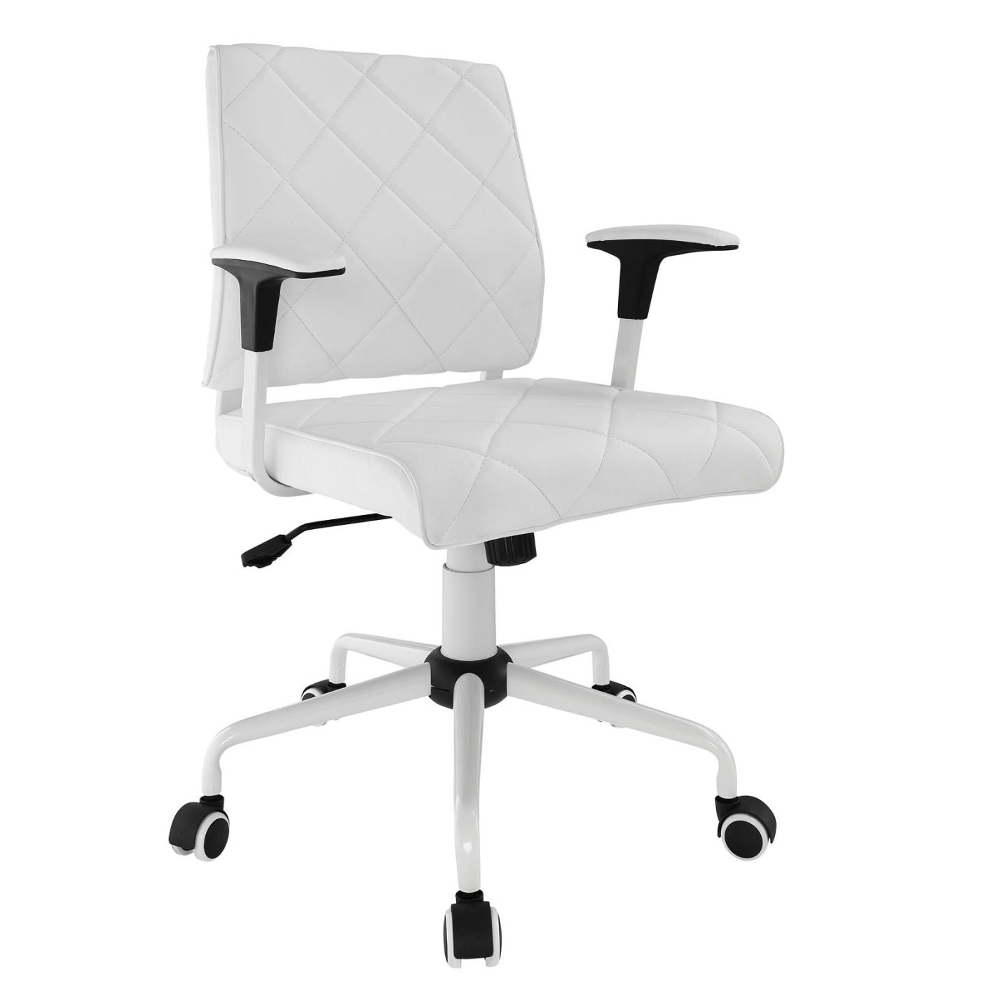 Modway Office Chairs On Sale Eei 1247 Whi Lattice Faux Leather