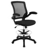 Office Chairs - Modway EEI-1423-BLK Veer Drafting Chair | 848387029388 | Only $118.75. Buy today at http://www.contemporaryfurniturewarehouse.com