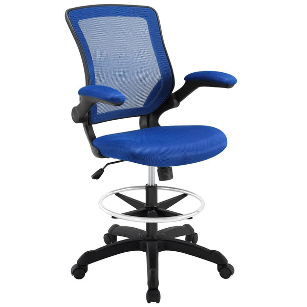 Office Chairs - Modway EEI-1423-BLU Veer Drafting Chair | 848387029395 | Only $118.75. Buy today at http://www.contemporaryfurniturewarehouse.com