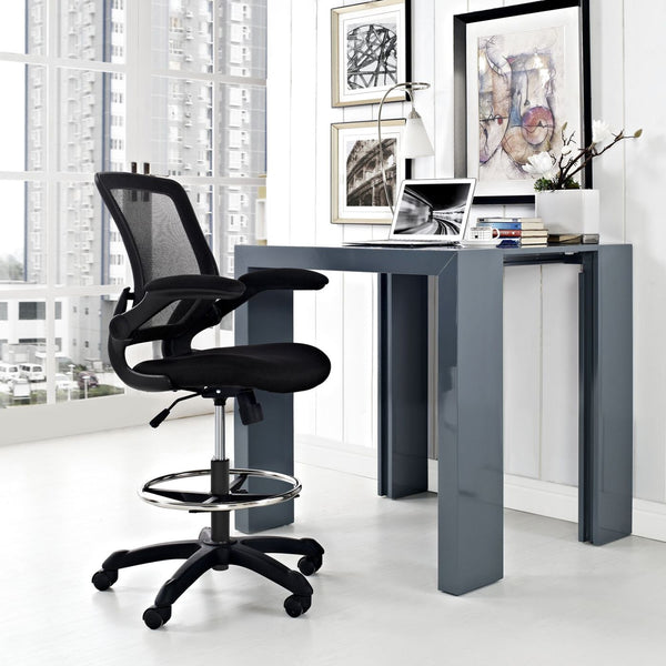 Office Chairs - Modway EEI-1423-RED Veer Drafting Chair | 848387029418 | Only $118.75. Buy today at http://www.contemporaryfurniturewarehouse.com