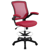 Modway Veer Drafting Chair EEI-1423-RED | 848387029418| $118.75. Office Chairs - . Buy today at http://www.contemporaryfurniturewarehouse.com