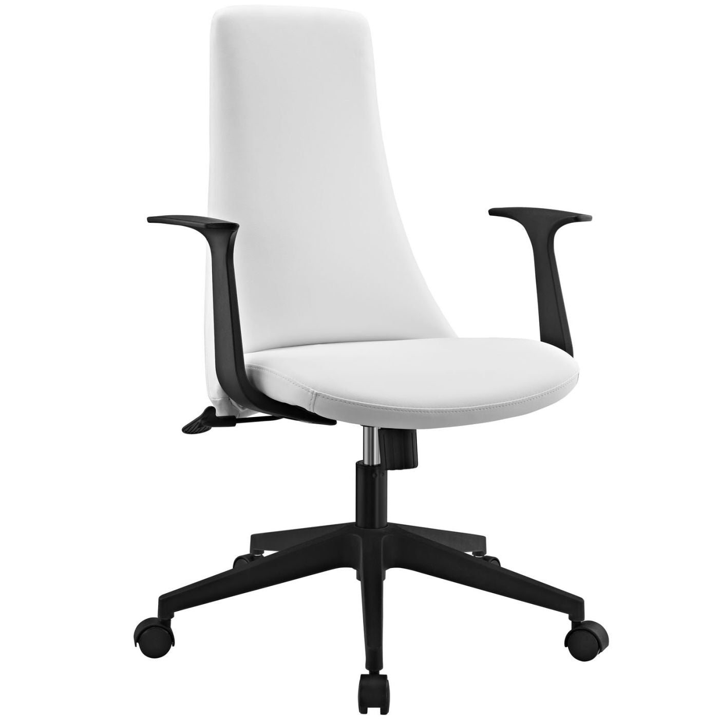 Modway Fount Mid Back Faux Leather Office Chair At Contemporary