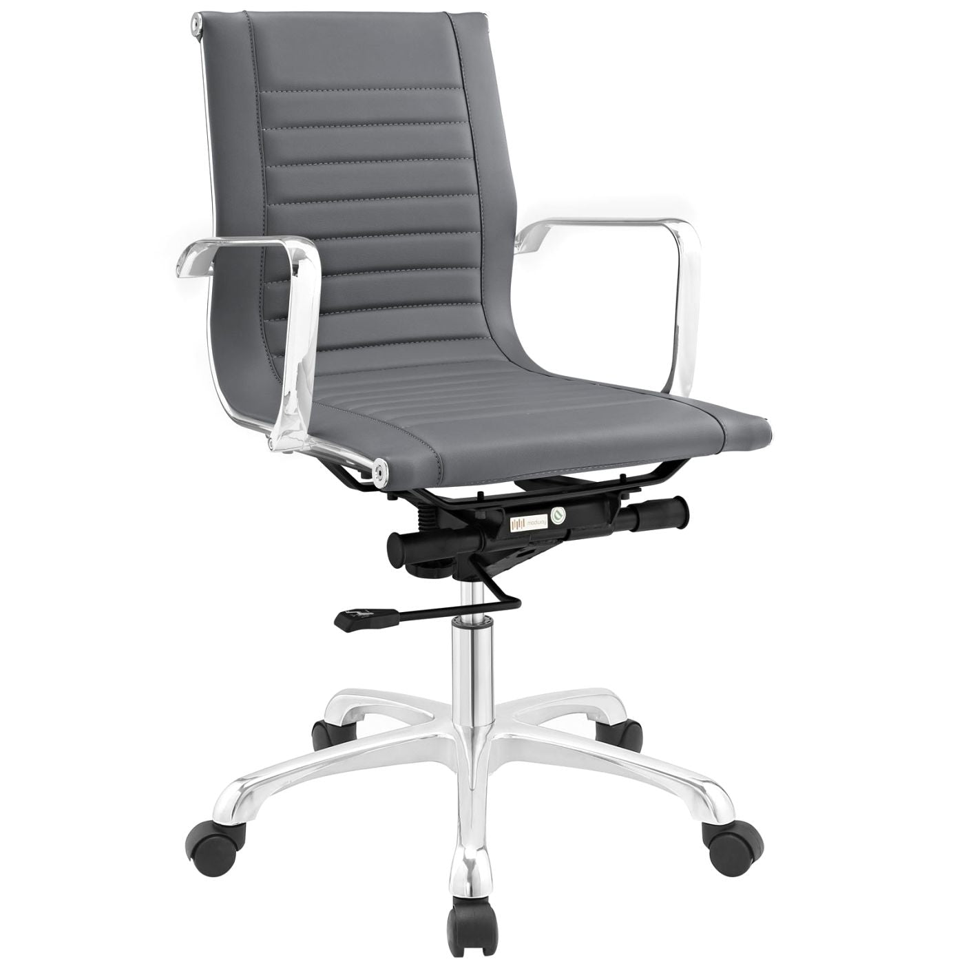 runway mid back fabric office chair by modway eei 1527 gry