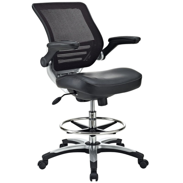 Office Chairs - Modway EEI-211-BLK Edge Drafting Chair | 848387005108 | Only $192.30. Buy today at http://www.contemporaryfurniturewarehouse.com