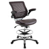 Office Chairs - Modway EEI-211-BRN Edge Drafting Chair | 848387029579 | Only $202.30. Buy today at http://www.contemporaryfurniturewarehouse.com
