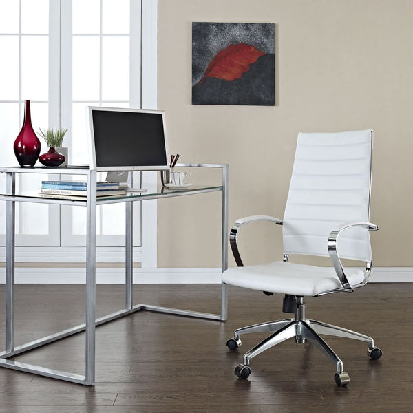 Office Chairs - Modway EEI-272-WHI Jive Highback Modern Office Chair | 848387005740 | Only $222.25. Buy today at http://www.contemporaryfurniturewarehouse.com
