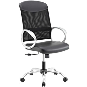 Emblem Mesh And Vinyl Office Chair Black