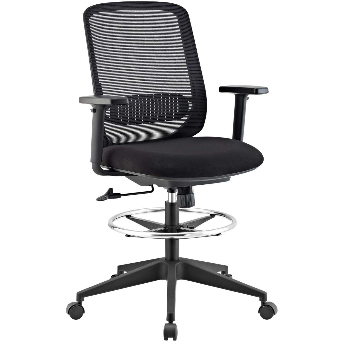 Acclaim Mesh Drafting Chair Black Office ...