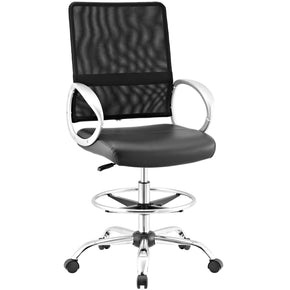Command Mesh And Vinyl Drafting Chair Black Office
