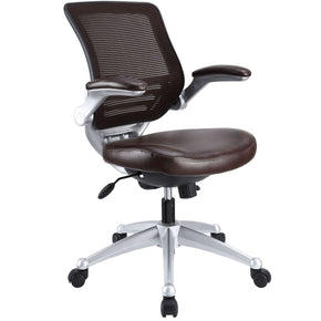 Edge Leather Office Chair Brown