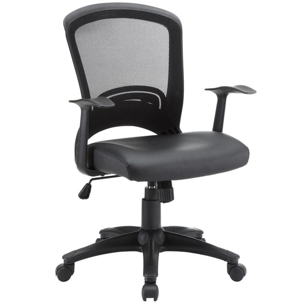 Pulse Faux Leather Office Chair Black
