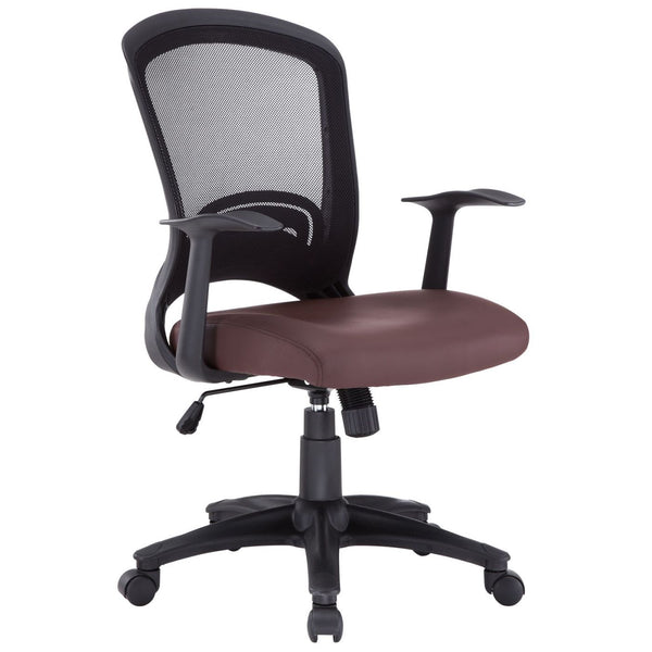 Pulse Faux Leather Office Chair Brown
