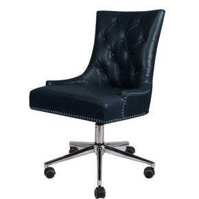 Cadence Bonded Leather Office Chair Vintage Blue