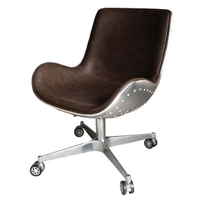 Delicieux Abner Swivel Office Chair Aluminium Frame Distressed Java