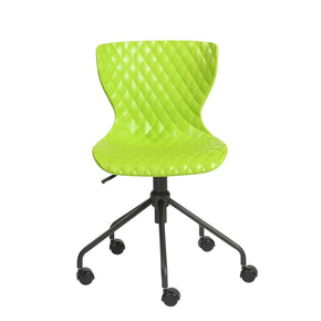 Daly Office Chair In Green With Black Base