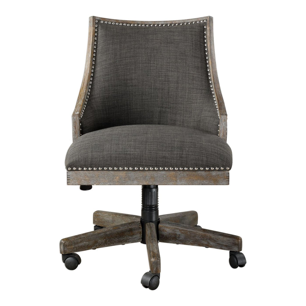 Buy Uttermost Utt 23431 Aidrian Charcoal Desk Chair At Contemporary