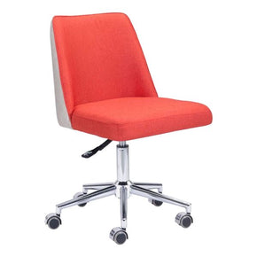 Season Office Chair Orange/beige Chromed Steel