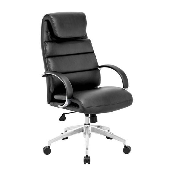 Lider Comfort Office Chair Black Polished Aluminum ...  sc 1 st  Contemporary Furniture Warehouse & Zuo Modern ZUO-205315 Lider Comfort Office Chair Black Polished Aluminum