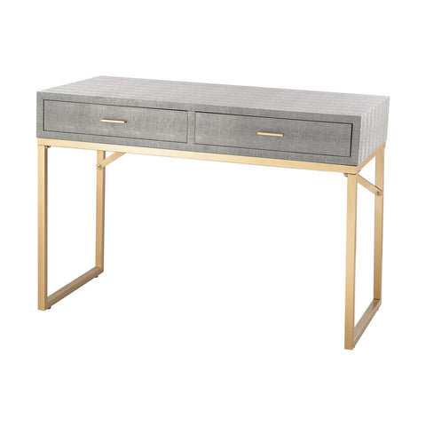 Nassau Point Desk Gold,grey Office