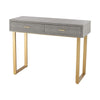 Beaufort Point Desk Gold,Grey