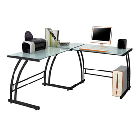 Gamma Desk Black Frame White Office