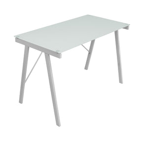 Exponent Desk White Silver Office