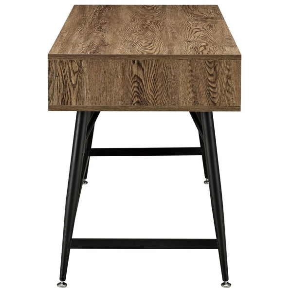 Office Desks - Modway EEI-1328-WAL-KIT Surplus Industrial Modern Office Desk | 848387027452 | Only $202.75. Buy today at http://www.contemporaryfurniturewarehouse.com
