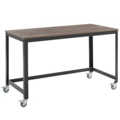 Vivify Computer Office Desk Gray Walnut