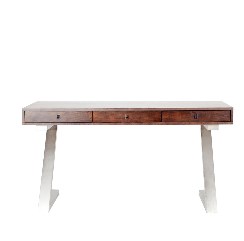 Zorro Contemporary Office Desk Dark Brown ...