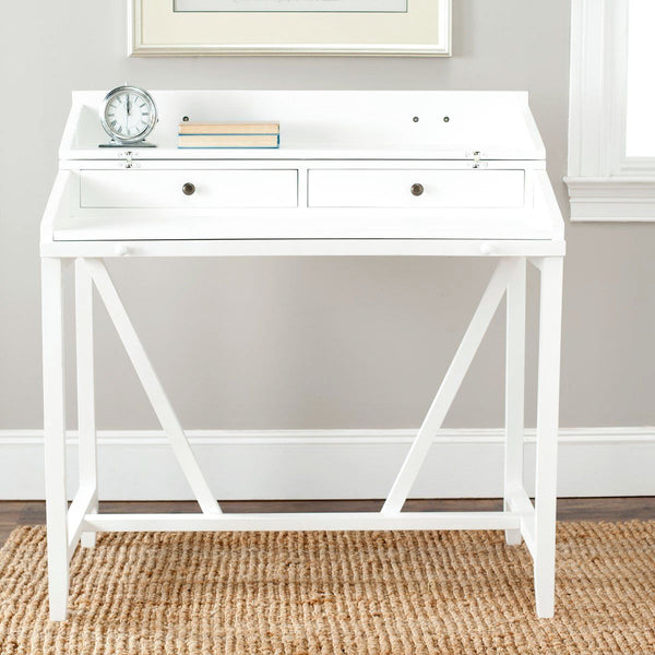 Wyatt Writing Desk W/pull Out White Office