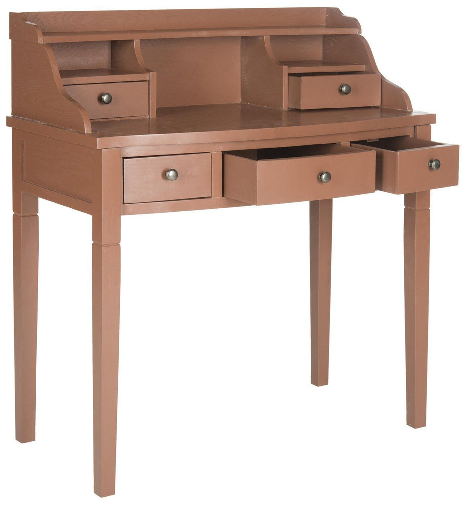 Landon Writing Desk Henna Brown Office