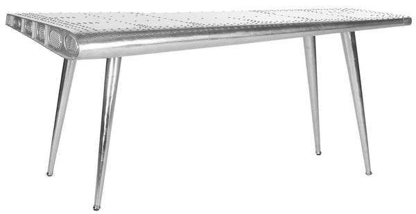 Aviator Writing Table Silver Office Desk