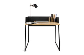 Volga Desk Oak / Pure Black Office
