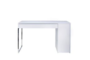 Prado Home Office Desk Pure White / Chrome