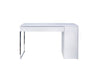 Prado Home Office Desk Matte White / Chrome