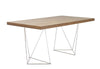 Multi 63 Table Top W/ Trestles Walnut / Chrome Office Desk