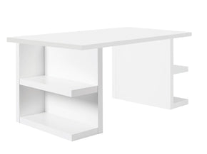 Multi 63 Table Top W/ Storage Legs Pure White Office Desk