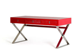 A&x Congress Transitional Red Crocodile Desk Office