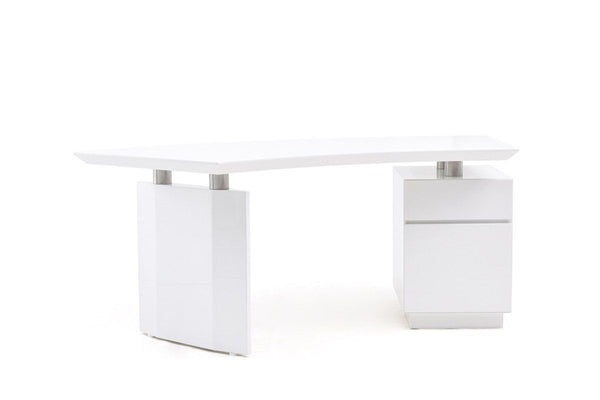 Vig Furniture VGVCBT022-WHT Modrest Stanford Modern White Office Desk sale  at Contemporary Furniture Warehouse. Today only.