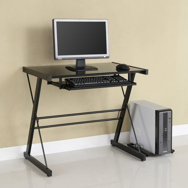 Office Desks - Walker Edison D31S29B Black Computer Desk | 893861001879 | Only $98.99. Buy today at http://www.contemporaryfurniturewarehouse.com
