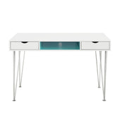Accent Computer Desk - Aqua Blue / White Office