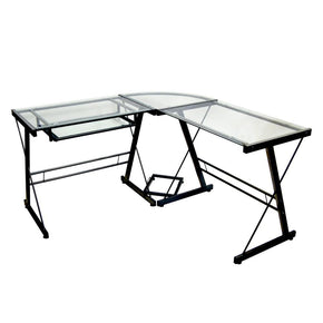 Office Desks - Walker Edison D51Z29 Black Corner Computer Desk | 893861001244 | Only $154.80. Buy today at http://www.contemporaryfurniturewarehouse.com