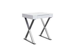Elm Desk Small High Gloss White Office