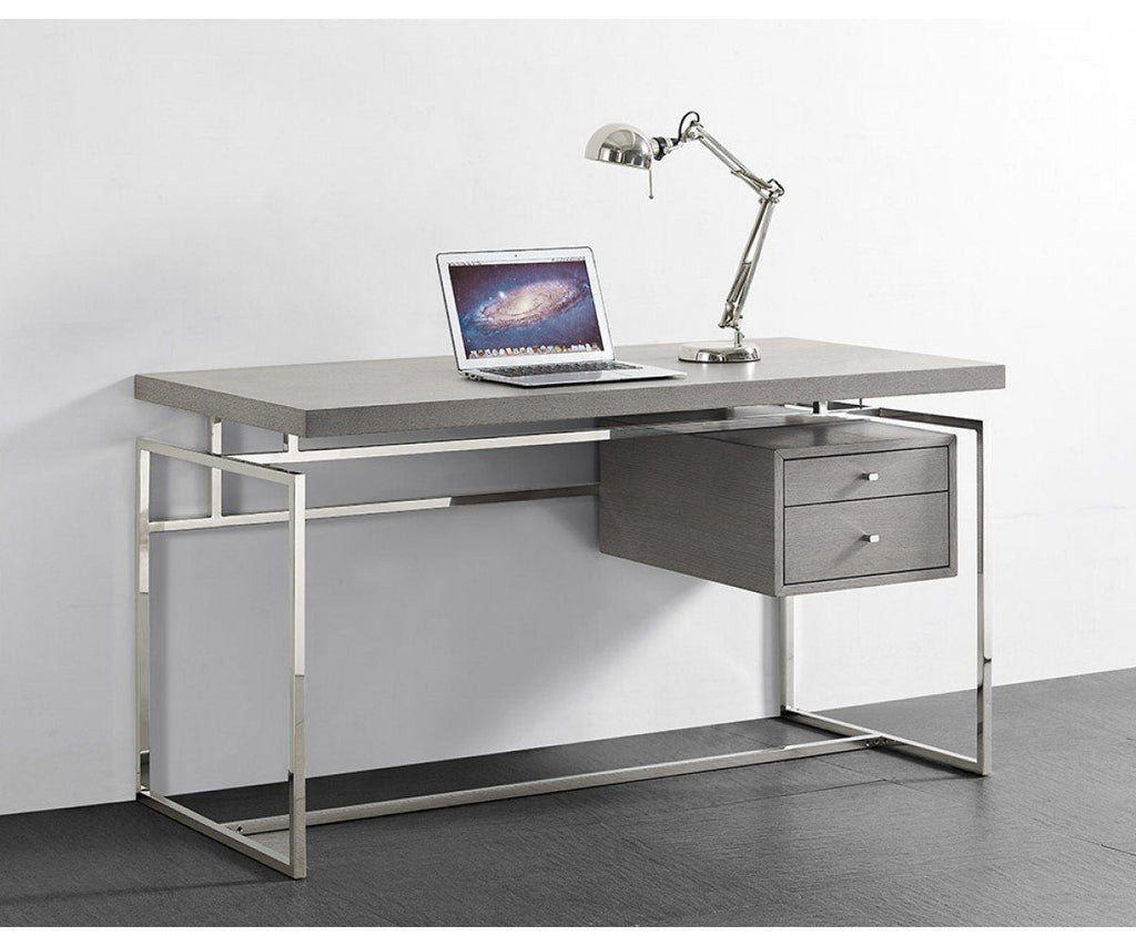 Amazing Deal On Whiteline Dk1409 Gry Harlow Desk Top Drawer In