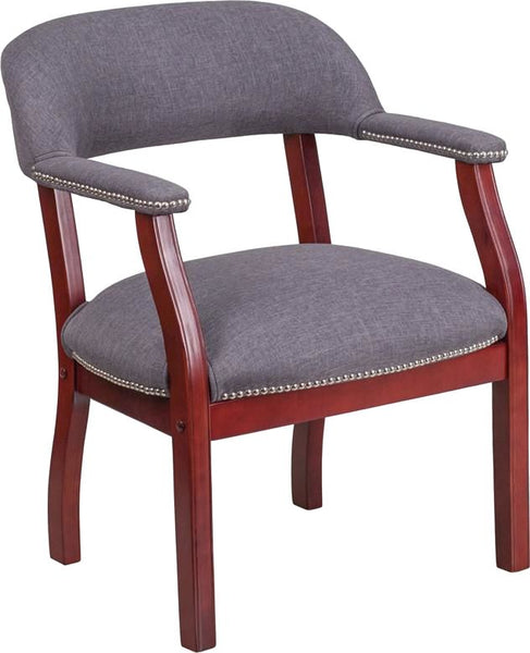 Office Side Chairs - Flash Furniture B-Z105-GY-GG Vinyl Luxurious Conference Chair | 889142077947 | Only $149.80. Buy today at http://www.contemporaryfurniturewarehouse.com