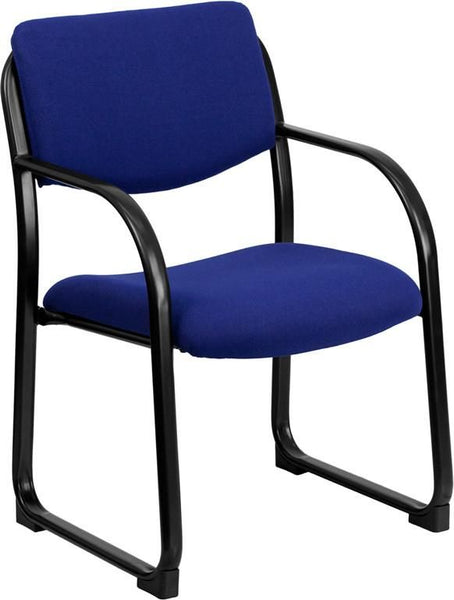 Office Side Chairs - Flash Furniture BT-508-NVY-GG Fabric Executive Side Chair with Sled Base | 812581010107 | Only $92.80. Buy today at http://www.contemporaryfurniturewarehouse.com